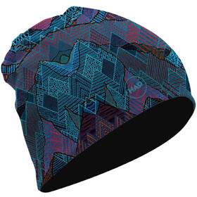 HAD Gorro Reversible de Merino, mountains/black